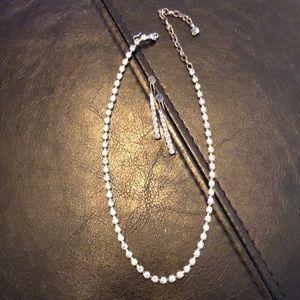 Rhinestone earring & necklace set